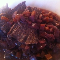 Greedy Italians' braised beef in red wine