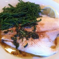 Plaice with samphire and buerre noisette