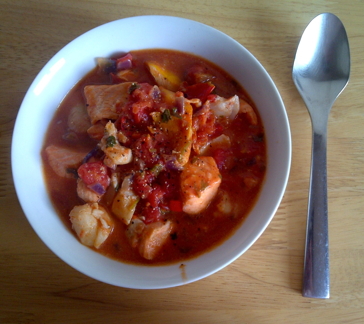 Greedy Italians' fish soup-stew