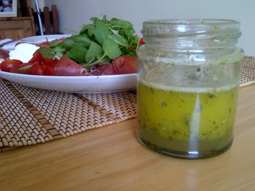 Basil and lemon oil