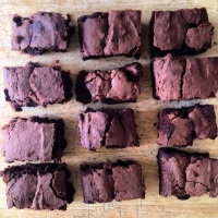 Gluten free, lactose free, extremely chocolatey brownies